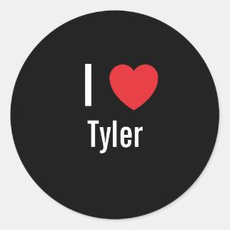 I love Tyler Round Sticker