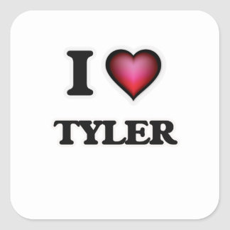 I Love Tyler Square Sticker