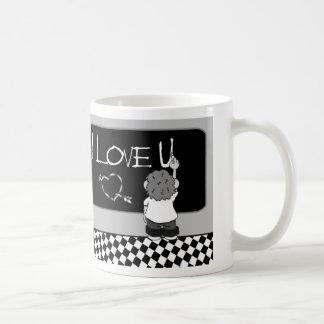 I Love U Basic White Mug