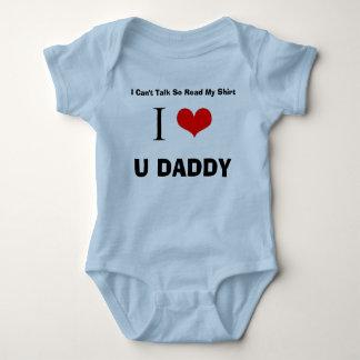 I Love U Daddy Baby Bodysuit