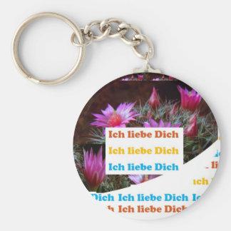i love U :GERMAN LANGUAGE CULTURE ARTS Keychain