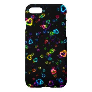 I Love U - Happy Neon iPhone 8/7 Case