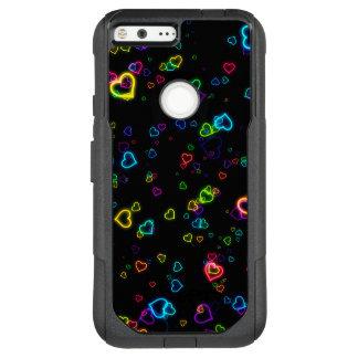 I Love U - Happy Neon OtterBox Commuter Google Pixel XL Case