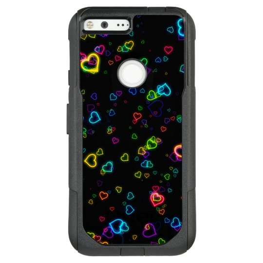 I Love U - Happy Neon OtterBox Commuter Google Pixel XL Case
