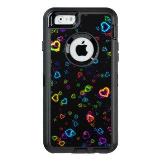 I Love U - Happy Neon OtterBox Defender iPhone Case