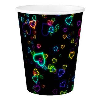 I Love U - Happy Neon Paper Cup