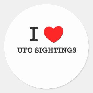 I Love Ufo Sightings Stickers