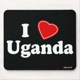 I Love Uganda Mouse Pad