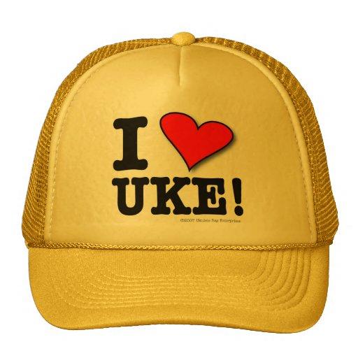 I LOVE UKE Designer Cap Trucker Hat