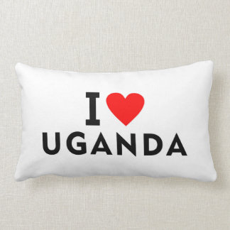 I love Ukraine country like heart travel tourism Lumbar Cushion