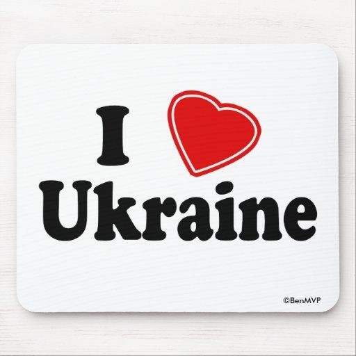 I Love Ukraine Mouse Pad