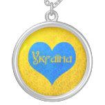 I Love Ukraine Necklace - a Heart