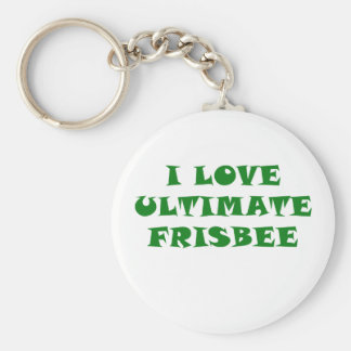I Love Ultimate Frisbee Key Ring