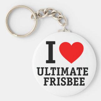 I Love Ultimate Frisbee Key Ring