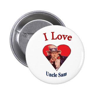 I Love Uncle Sam 6 Cm Round Badge
