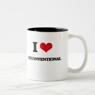 I love Unconventional Two-Tone Mug