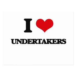 I love Undertakers Postcard