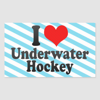 I love Underwater Hockey Rectangular Sticker