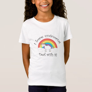 I love unicorns Deal with it! T-Shirt