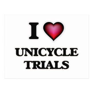 I Love Unicycle Trials Postcard