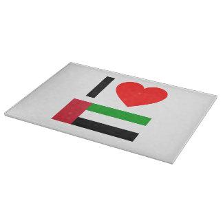 i love united arab emirates cutting boards