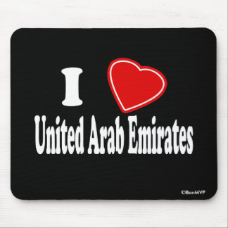 I Love United Arab Emirates Mouse Pad