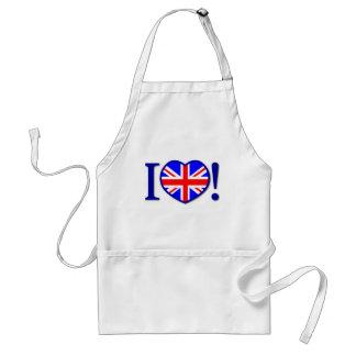 I Love United Kingdom Apron