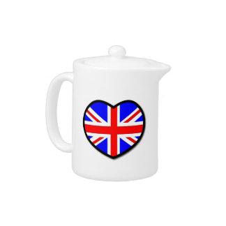 I Love United Kingdom Teapot