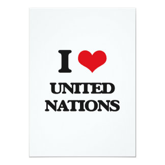 "I love United Nations 5"" X 7"" Invitation Card"