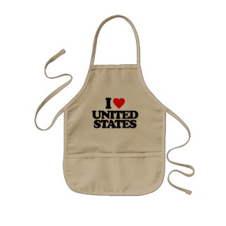 I LOVE UNITED STATES KIDS APRON