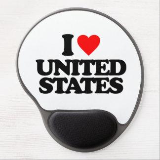 I LOVE UNITED STATES GEL MOUSEPAD