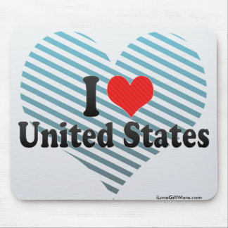 I Love United States Mouse Pad