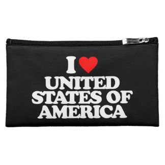 I LOVE UNITED STATES OF AMERICA MAKEUP BAGS