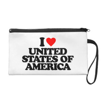 I LOVE UNITED STATES OF AMERICA WRISTLETS