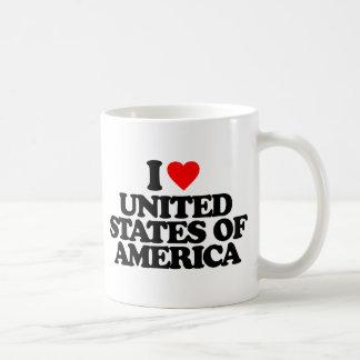 I LOVE UNITED STATES OF AMERICA BASIC WHITE MUG