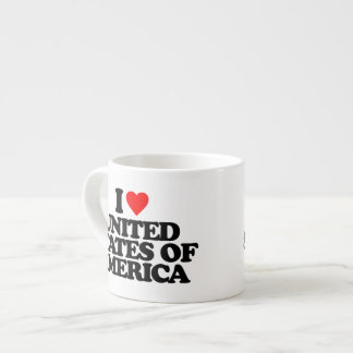 I LOVE UNITED STATES OF AMERICA ESPRESSO MUG