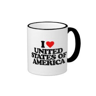 I LOVE UNITED STATES OF AMERICA COFFEE MUG