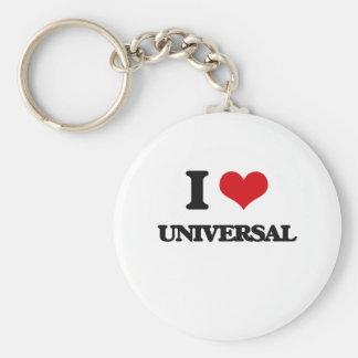 I love Universal Basic Round Button Keychain