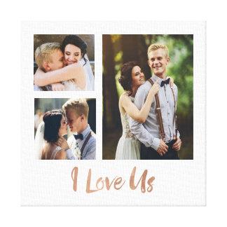 I Love Us Rose Gold Script Wedding Canvas Canvas Print