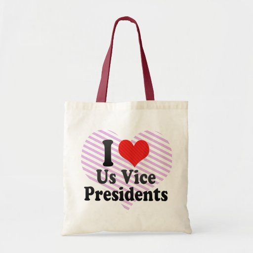 I Love Us Vice Presidents Tote Bags