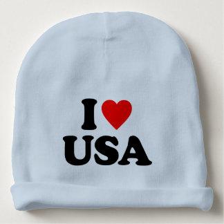 I LOVE USA BABY BEANIE