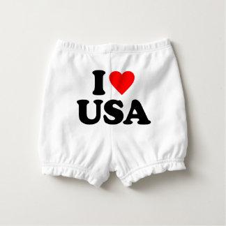 I LOVE USA NAPPY COVER