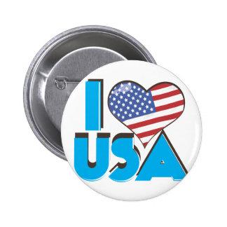 I Love USA Retro 80s 6 Cm Round Badge