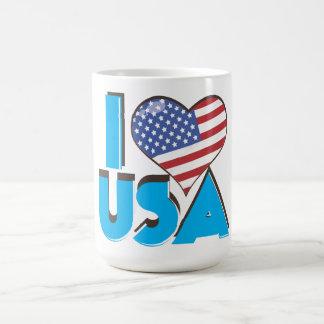 I Love USA Retro 80s Coffee Mug