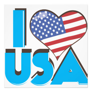 I Love USA Retro 80s Photograph