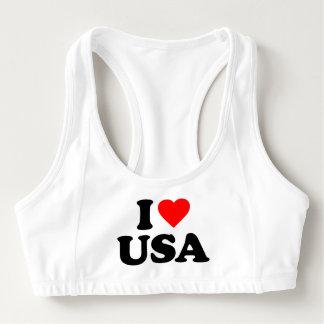 I LOVE USA SPORTS BRA