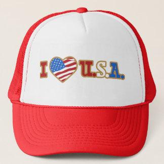 I Love USA Trucker Hat