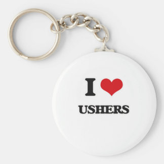 I Love Ushers Key Ring