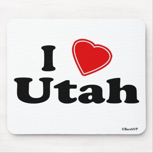 I Love Utah Mousepad