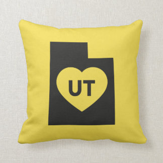 I Love Utah State Throw Pillow